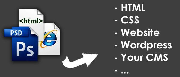 تبدیل طرح شما به HTML